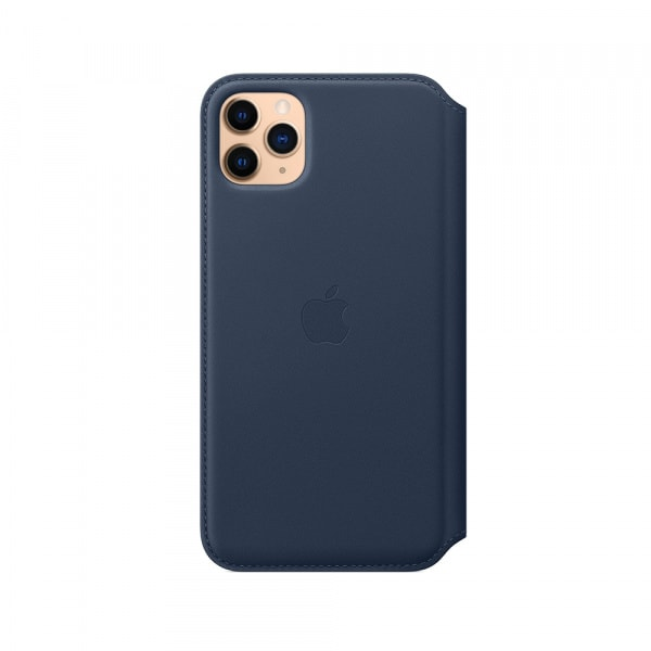 iPhone 11 Pro Max Leather Folio - Deep Sea Blue 2