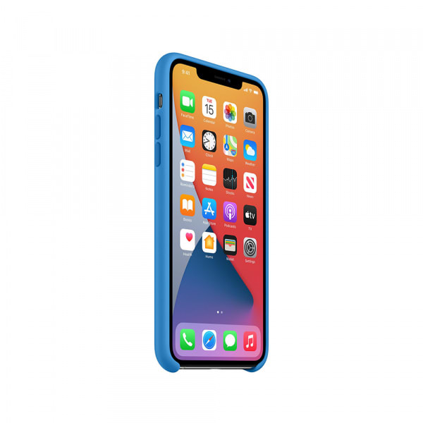 iPhone 11 Pro Max Silicone Case - Surf Blue 3