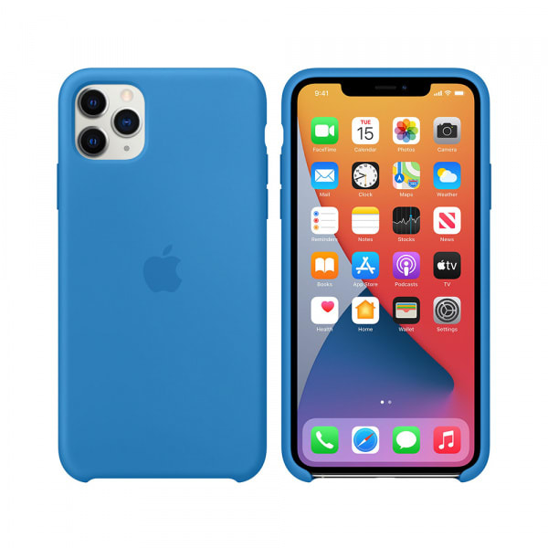 iPhone 11 Pro Max Silicone Case - Surf Blue 5