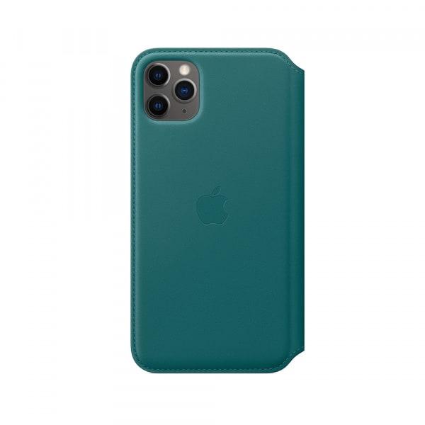 iPhone 11 Pro Max Leather Folio - Peacock 0