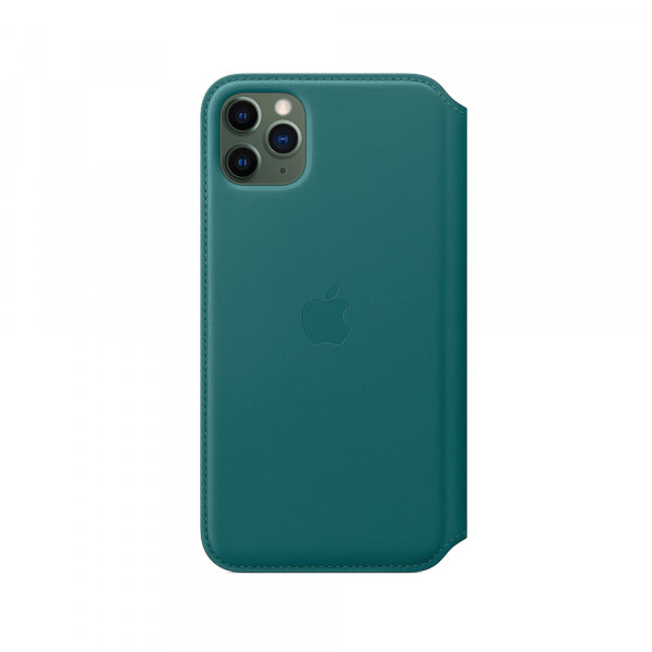 iPhone 11 Pro Max Leather Folio - Peacock 3