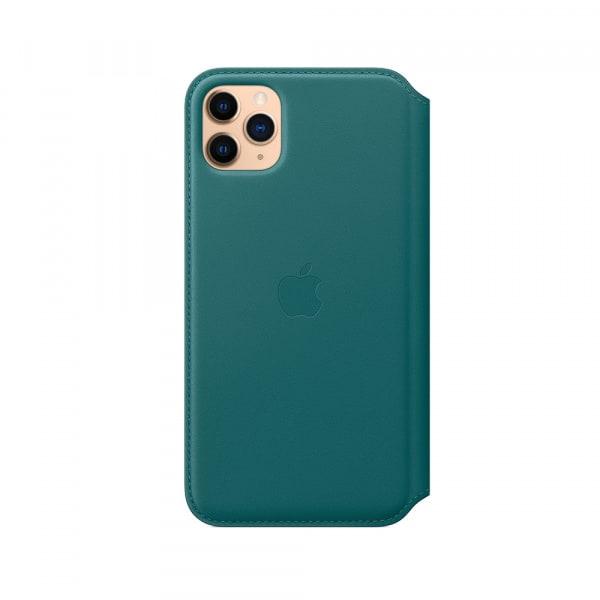 iPhone 11 Pro Max Leather Folio - Peacock 2