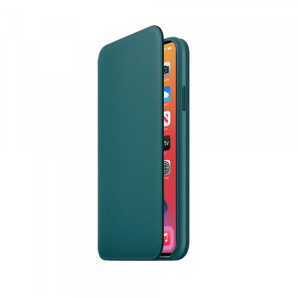 iPhone 11 Pro Max Leather Folio - Peacock 4