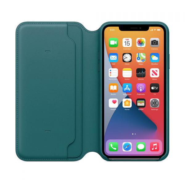 iPhone 11 Pro Max Leather Folio - Peacock 5