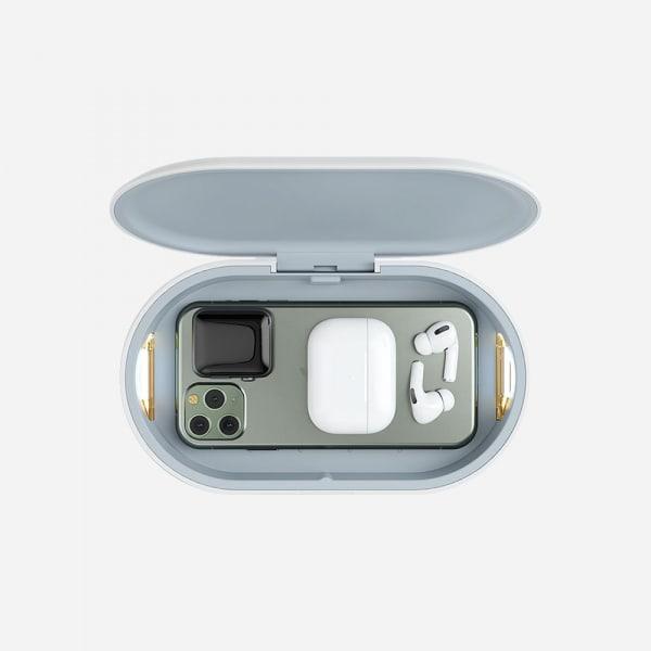 AMAZINGTHING UV Light Sanitizing Box with Wireless Charger - White 3