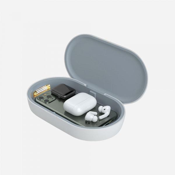 AMAZINGTHING UV Light Sanitizing Box with Wireless Charger - White 2