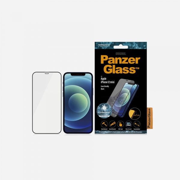 PANZERGLASS Case Friendly Black for iPhone 12 mini - Clear 2