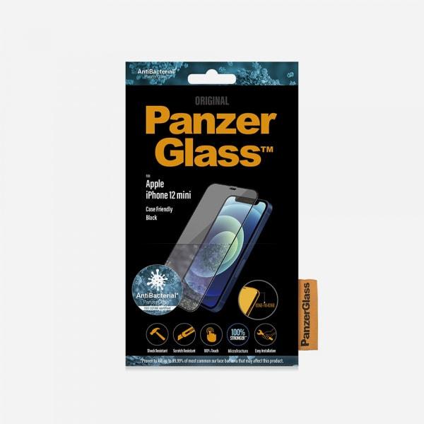 PANZERGLASS Case Friendly Black for iPhone 12 mini - Clear 0