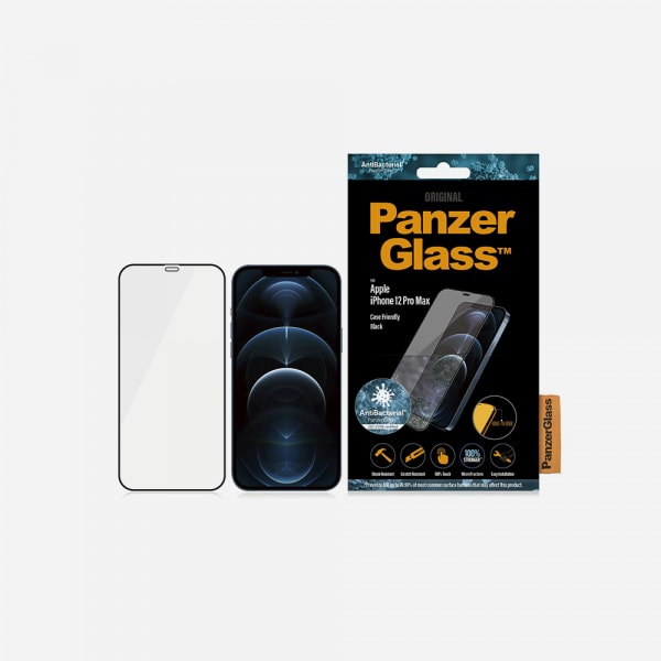 PANZERGLASS Case Friendly Black for iPhone 12 Pro Max - Clear 1