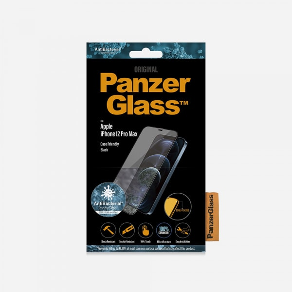 PANZERGLASS Case Friendly Black for iPhone 12 Pro Max - Clear 2