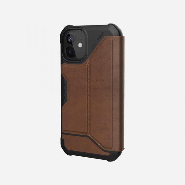 UAG Metropolis Case for iPhone 12 Mini - Leather Brown 3