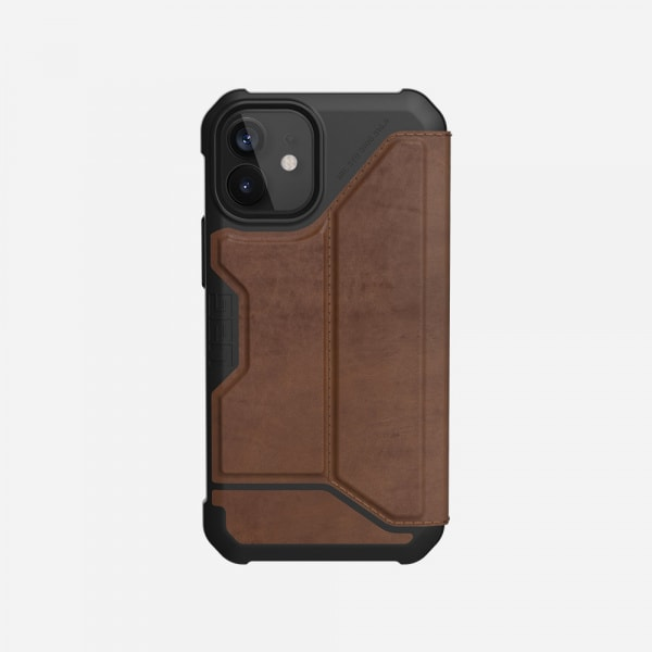 UAG Metropolis Case for iPhone 12 Mini - Leather Brown 1