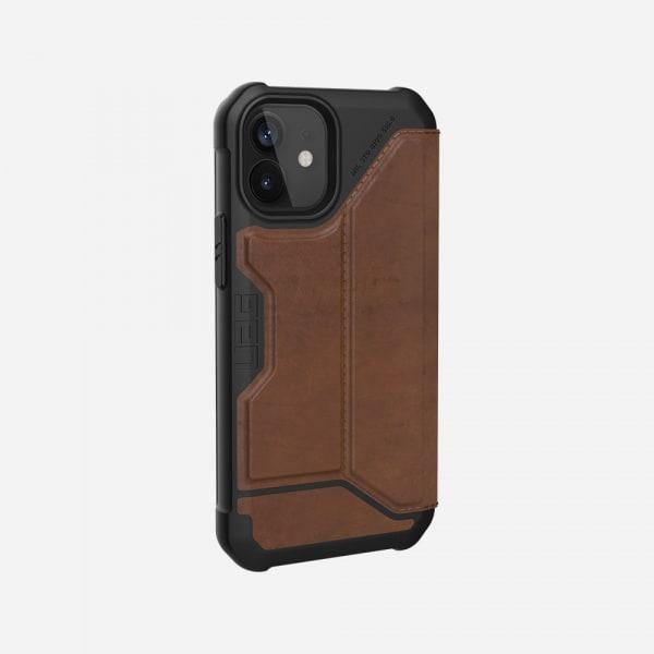 UAG Metropolis Case for iPhone 12 Mini - Leather Brown 4