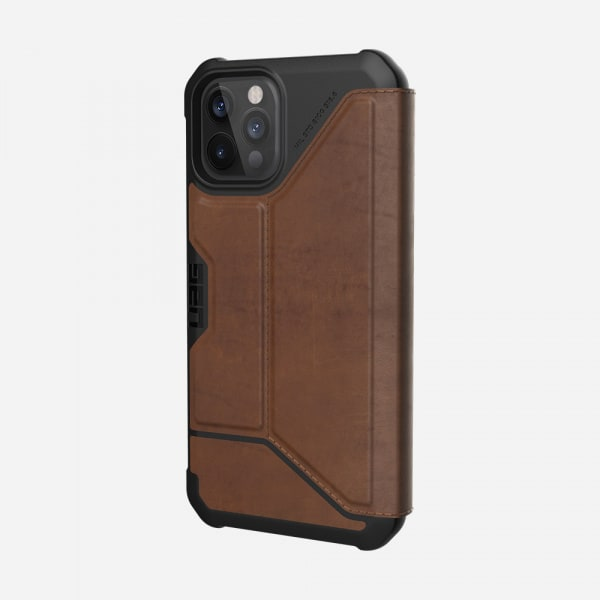 UAG Metropolis Case for iPhone 12/12 Pro - Leather Brown 3