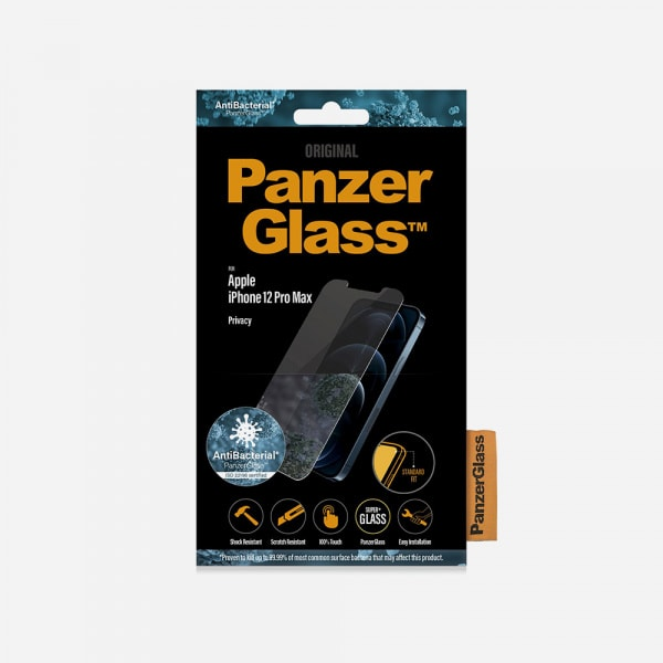 PANZERGLASS Standard Fit for iPhone 12 Pro Max - Privacy 2