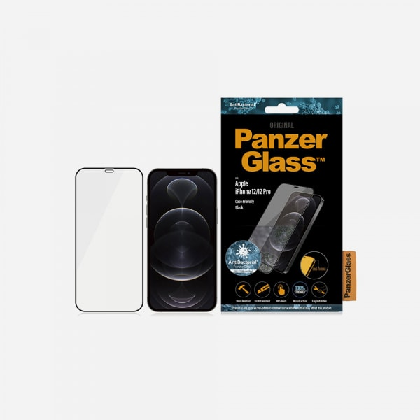 PANZERGLASS Case Friendly Black for iPhone 12 / 12 Pro - Clear 1