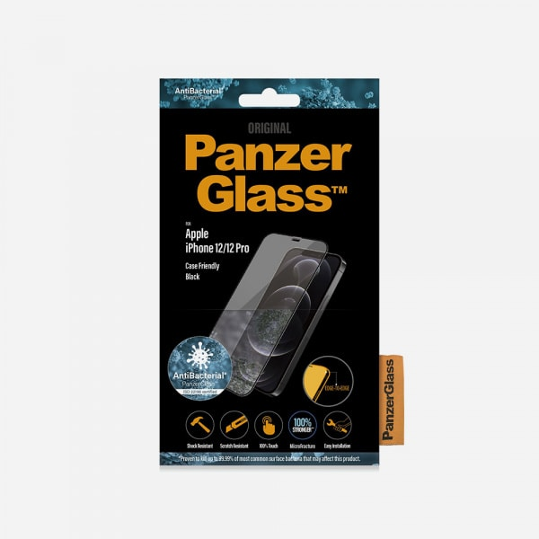 PANZERGLASS Case Friendly Black for iPhone 12 / 12 Pro - Clear 2