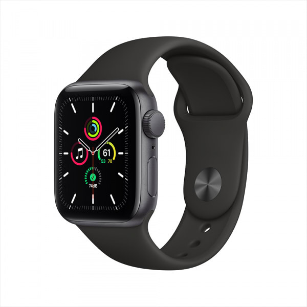 Apple Watch SE GPS 40mm Space Gray Aluminium Case with Black Sport Band 0