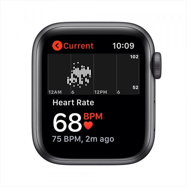 Apple Watch SE GPS 40mm Space Gray Aluminium Case with Black Sport Band 3