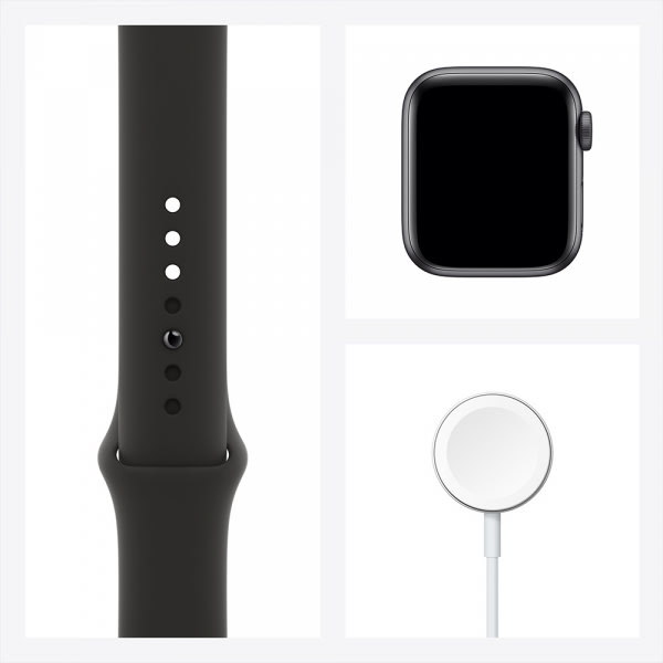 Apple Watch SE GPS 40mm Space Gray Aluminium Case with Black Sport Band 7