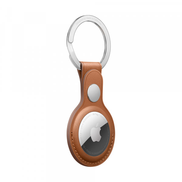 AirTag Leather Key Ring - Saddle Brown 1