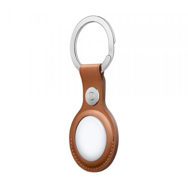 AirTag Leather Key Ring - Saddle Brown 2