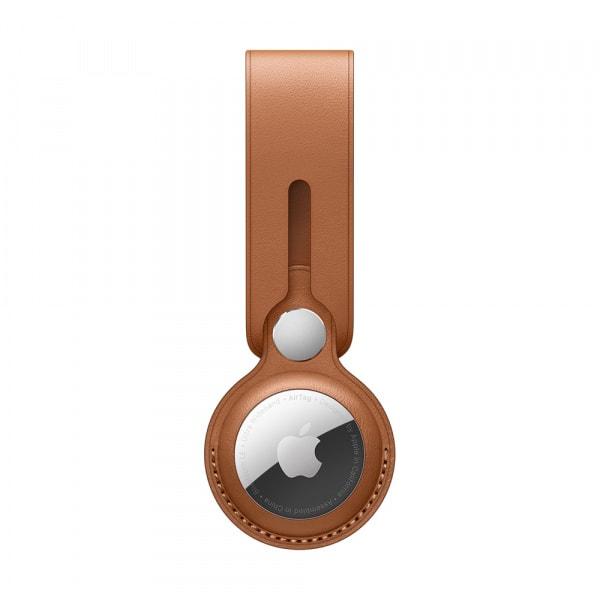 AirTag Leather Loop - Saddle Brown 1