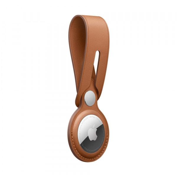 AirTag Leather Loop - Saddle Brown 2