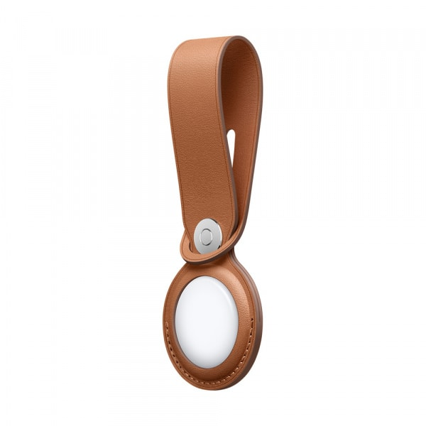 AirTag Leather Loop - Saddle Brown 3