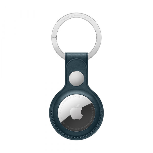 AirTag Leather Key Ring - Baltic Blue 1