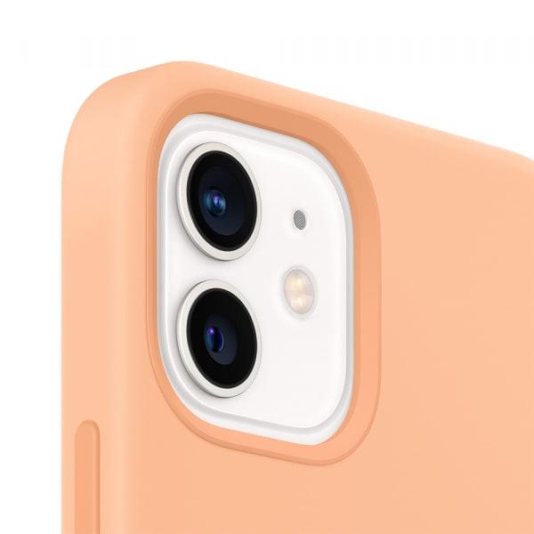 iPhone 12   12 Pro Silicone Case with MagSafe - Cantaloupe 1