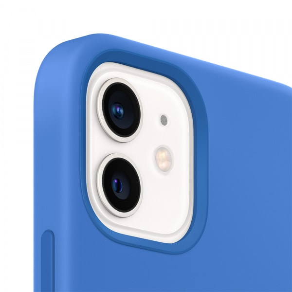 iPhone 12 mini Silicone Case with MagSafe - Capri Blue 3