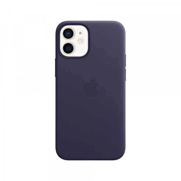 iPhone 12 mini Leather Case with MagSafe - Deep Violet 1