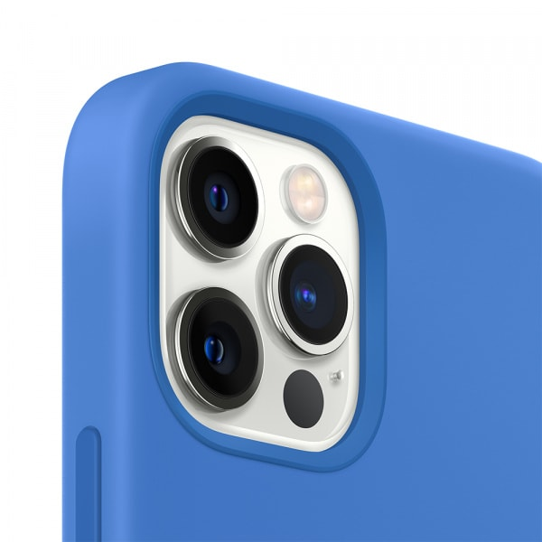iPhone 12 Pro Max Silicone Case with MagSafe - Capri Blue 1