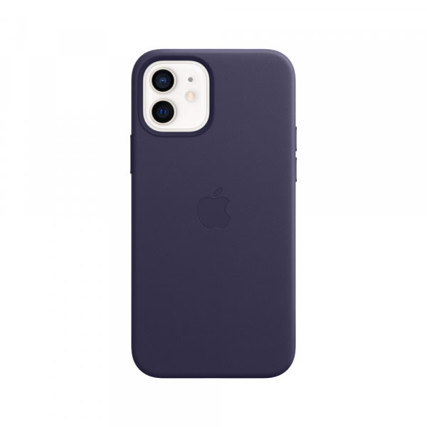 iPhone 12 | 12 Pro Leather Case with MagSafe - Deep Violet 1