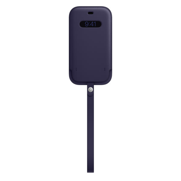 iPhone 12   12 Pro Leather Sleeve with MagSafe - Deep Violet 2