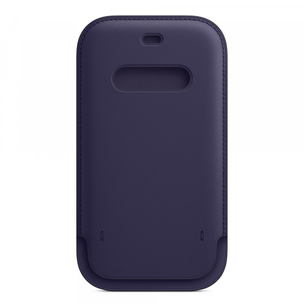 iPhone 12   12 Pro Leather Sleeve with MagSafe - Deep Violet 4