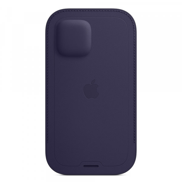 iPhone 12   12 Pro Leather Sleeve with MagSafe - Deep Violet 3