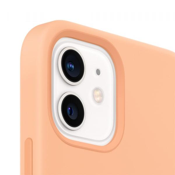 iPhone 12 mini Silicone Case with MagSafe - Cantaloupe 1
