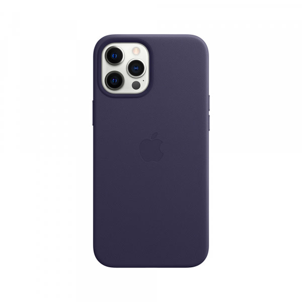 iPhone 12 Pro Max Leather Case with MagSafe - Deep Violet 1