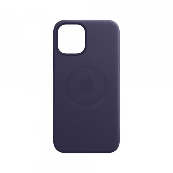 iPhone 12 Pro Max Leather Case with MagSafe - Deep Violet 4