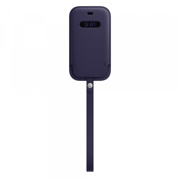 iPhone 12 mini Leather Sleeve with MagSafe - Deep Violet 1