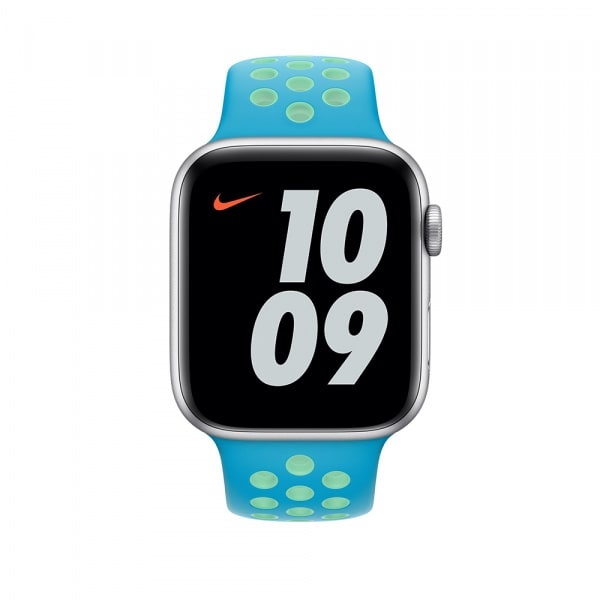 44mm Chlorine Blue/Green Glow Nike Sport Band - Regular 2