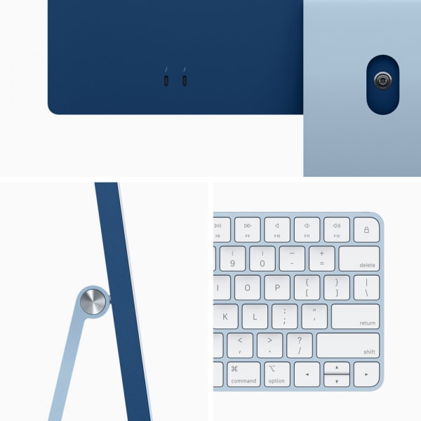 24-inch iMac with Retina 4.5K display: Apple M1 chip with 8_core CPU and 7_core GPU 256GB - Blue 4
