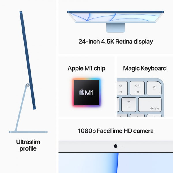 24-inch iMac with Retina 4.5K display: Apple M1 chip with 8_core CPU and 7_core GPU 256GB - Blue 7