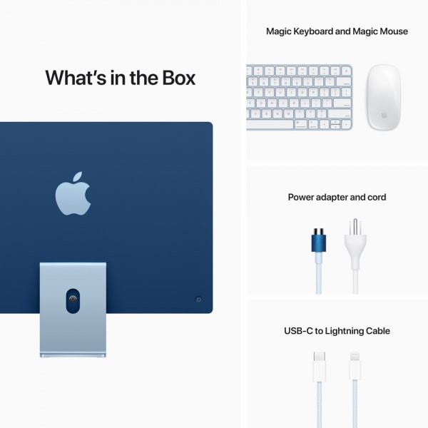 24-inch iMac with Retina 4.5K display: Apple M1 chip with 8_core CPU and 7_core GPU 256GB - Blue 8