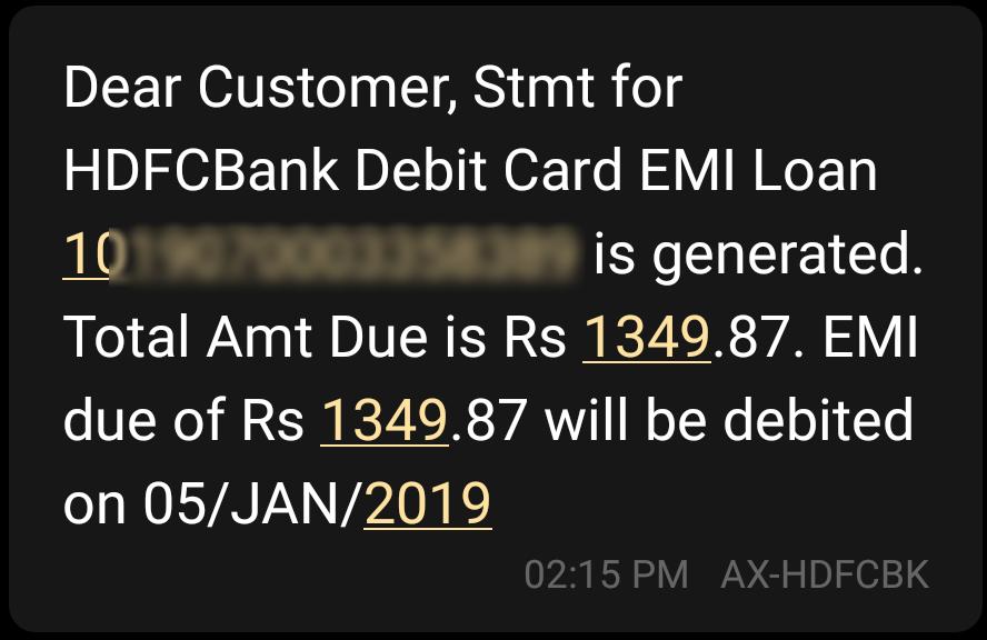 HDFC Debit card EMI on Flipkart | ₹80,000 Finance No Documents