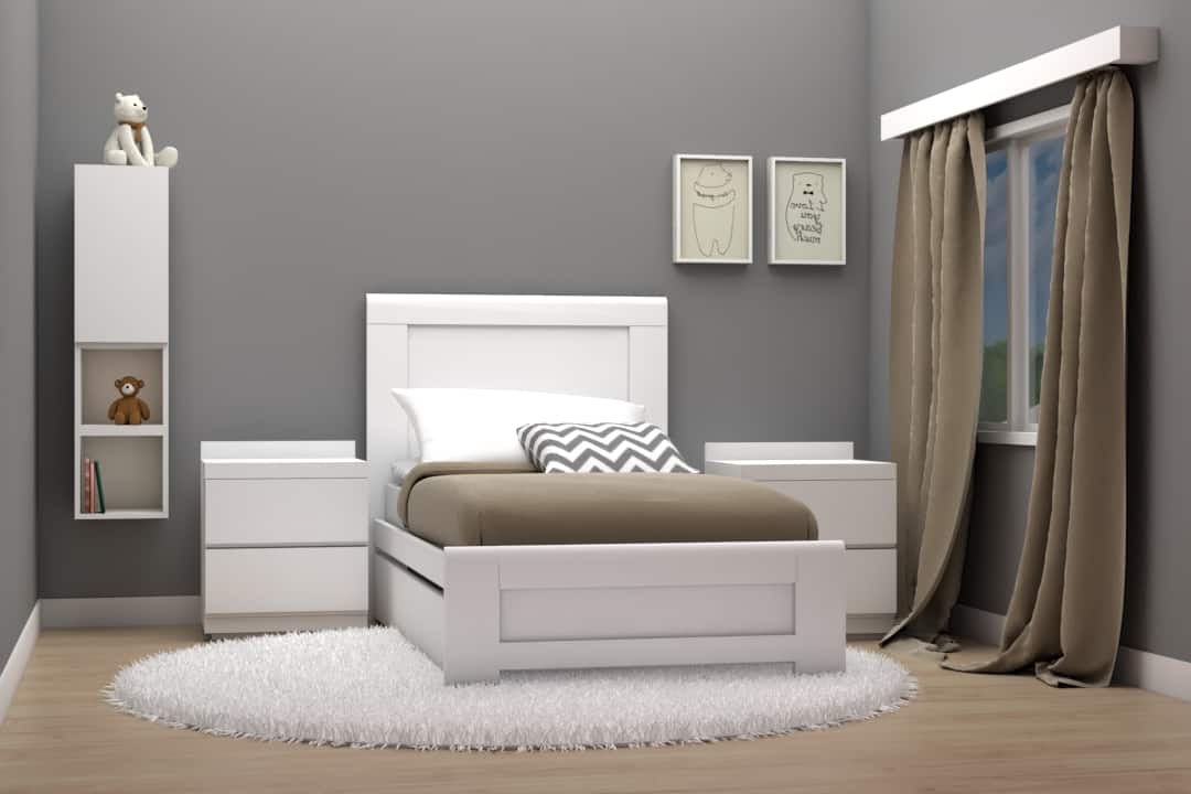 cama individual modelo luna color blanco muebles infantiles decen