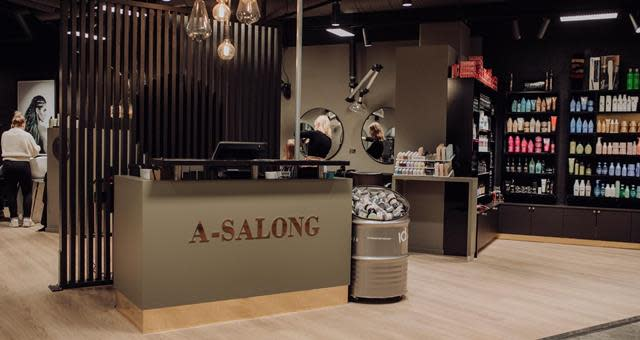 A-Salong Sandens senter logo
