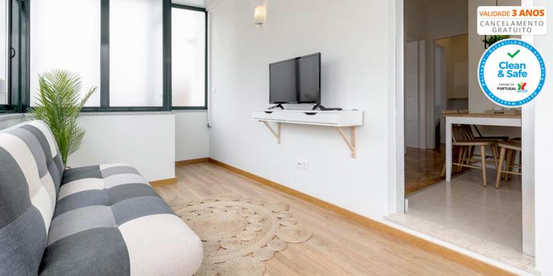 Casas da Praia - Praia do Furadouro | Noites para até 4 Pessoas em Apartamento Junto à Praia